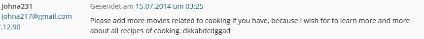 Cookingspam